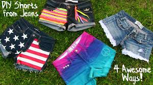 diy clothes 4 diy shorts projects from jeans easy youtube