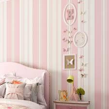 paysota kinder zimmer tapete schlafzimmer romantische rosa prinzessin zimmer umwelt nicht woven streifen wand papier rolle