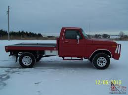 1978 FORD F250 4X4 XLT RANGER, RED, 4WD, REGULAR CAB, FLATBED, CLASSIC