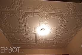 Popcorn Ceiling Asbestos Year by Epbot Diy Faux Tin Tile Ceiling