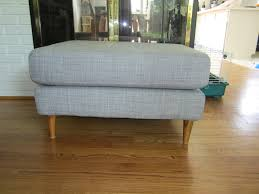 Ikea Chair And Ottoman Covers by Ikea Karlstad Couch Hack My Mid Century Modest Ranch Make Over