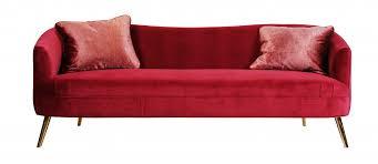 canapé couleur grand canapé boudoir en velours couleur framboise 3 places salon