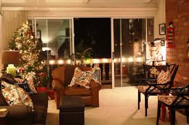Decorations Modern Home Living Room With Beautiful Christmas Decoration Featuring Lighted Tree White