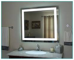 lighted cosmetic mirror wall mount lighted bathroom vanity wall
