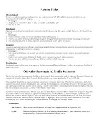 Resume Opening Statement Sample Objective For Samples Example Te Full Size