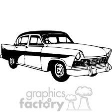 Vintage Car Clipart Black And White