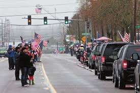LINE OF SUPPORT' FOLLOWS SOLDIER'S FUNERAL
