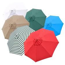 10 Umbrella Replacement Cover Top 8 Rib Deck Outdoor Canopy Garden Beach Patio Pool Color