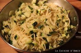 recette pâtes aux courgettes la cuisine familiale un plat une