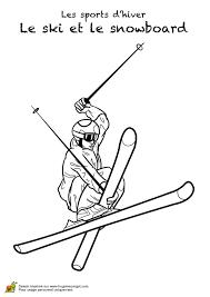 Caricature Santa Sur Ski Pour Cahier De Coloriage Image