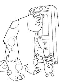 Monsters Inc Coloring Pictures To Print Disney Printable Pages