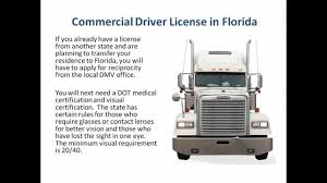 CDL In Florida Commercial Drivers License Florida - YouTube
