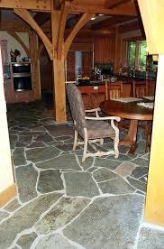 Stone Floor Living Room A Slate Flooring Natural
