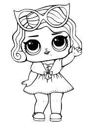 Surprise Coloring Pages Bon Ads Lol Doll Page