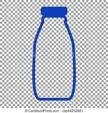 Water Bottle Transparent Background Milk Sign Blue Icon On Clipart No