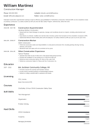 Construction Worker Resume: Sample & Guide [20+ Examples] Free Resume Templates Cstruction Laborer Structural Engineer Mplates 2019 Download Worker Sample Guide 20 Examples Example And Writing Tips 11 Amazing Livecareer 030 Project Manager Template Word Cstruction Resume Mplate Sample Skills Put Cover Letter For Managers In Management