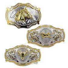 men u0027s vintage metal big bull horse rider rodeo belt buckle cowboy