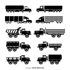 Truck Silhouette Set - Vector Download