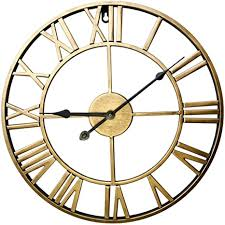 zuji wanduhr vintage 60cm wanduhr groß xxxl wanduhr lautlos wanduhr ohne tickgeräusche wanduhr dekorative für küche wohnzimmer schlafzimmer golden