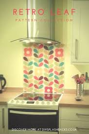 Create A Retro Or Mid Century Look In Your Kitchen With Patterned Glass Splashback Available Any Size Splashbacks Can Even Be Shaped Around Cooker