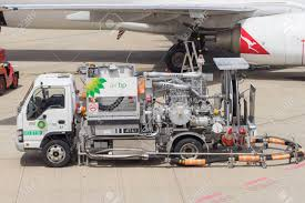 100 Truck Fuel Closeup Of At Brisbane Airport Stock Photo Picture And