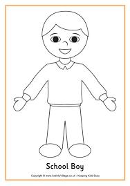 School Boy Colouring Page
