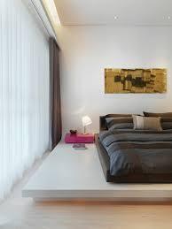 doppelbett auf weißem podest in modernem bild kaufen