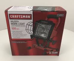 craftsman halogen work light 500 watt 3418862 18862 new ebay