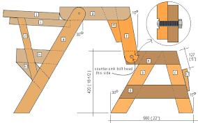 folding picnic table free plans assembling the side frames