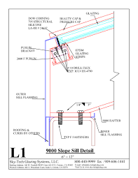 L1 9000 Slope Sill Detail
