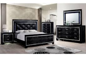 Allura Black Bedroom Set by Furniture America CM7979BK