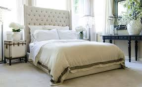 King Size Platform Bed With Headboard by Tufted Fabric Platform Bed With Tall Headboard Club Furniture