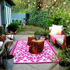 Treviso Outdoor Area Rug Peony Pink & Ivory