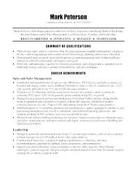 Medical Field Resume Examples Sales Sample Objective For