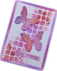 Distress Oxide Ombre birthday card Nikki Acton