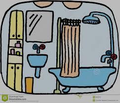 bathroom stock vector illustration of trough bowl bathe