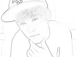 Justin Bieber Coloring Pages Print