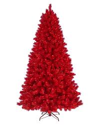 Artificial Douglas Fir Christmas Tree Unlit by Lipstick Red Artificial Christmas Tree Treetopia