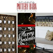 Amazing Pottery Barn Knock f Christmas Ornaments The Cottage