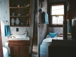 Inside The Luxury Rv Escape Tiny Houses On Wheels Bathroom Traveler House
