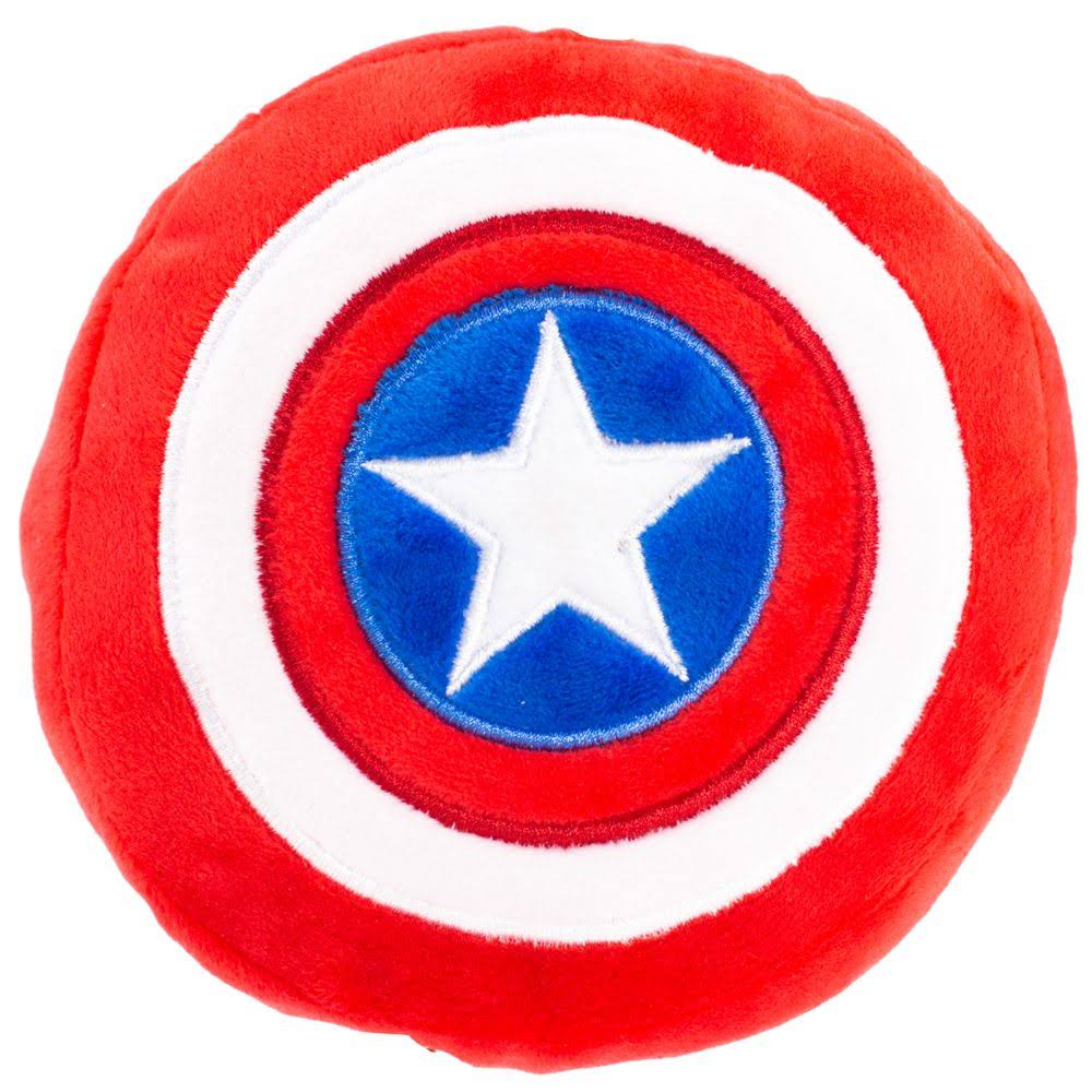 Buckle-Down Dog Toy Plush Captain America Shield Red White Blue White