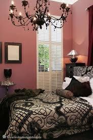 schöne wandfarbe schlafzimmer schwarz puder rosa altrosa