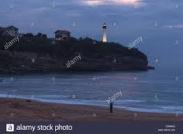 chambre d amour biarritz a fisherman in chambre d amour by twilight with biarritz