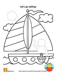 Free Printable Sailboat Coloring Sheet Alextoys Summer