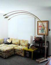 Overarching Floor Lamp Brass by Mid Century Arc Lamp Ebay