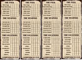 Clue Card Template 4
