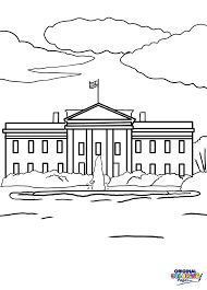 To Celebrate The United States And All Of Its Glories Take Some Time Color In White House Coloring Page Below
