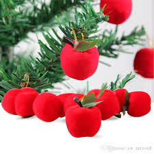 2017 Chiristmas Tree Apple Decoration Artifical Small Mini Red Apples Gift For Christmas Ornament Hot Sale Decorations