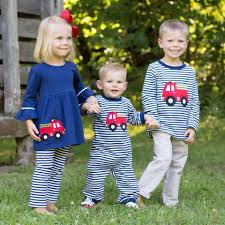Fire Truck Appliqué Outfits In Cozy KNIT... - Dressie Jessie ...