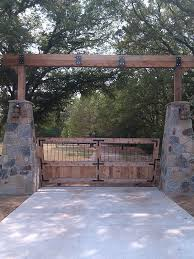 Ranch Landscape Ideas Landscaping Pictures Rustic Wooden Gate Of A House With Tall